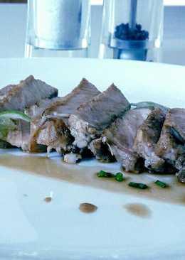 Pork Steak with Sour Sauce.