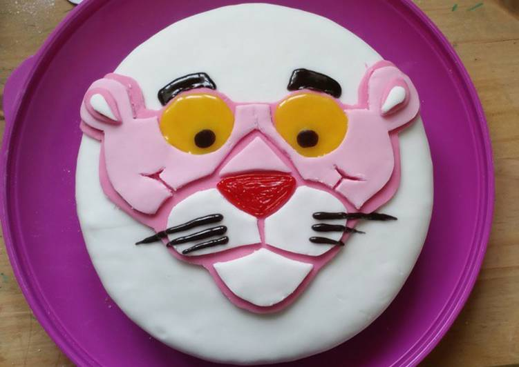 Pink Panther Birthday Cake Recipe By Jessica Cookpad