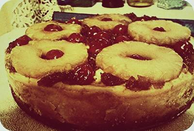 Pineapple Rightside Up Cheesecake