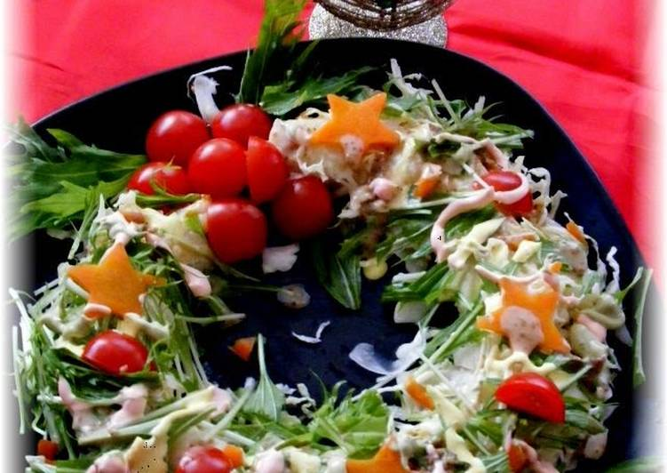 Christmas Wreath Salad With Colorful Mayonnaise Recipe By Cookpad