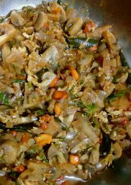 Mushroom Dry - A Sauteed Side dish for Rotis/Chapatis