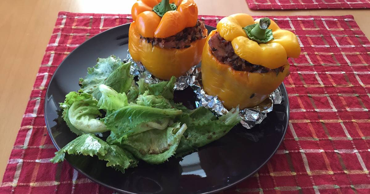 Stuffed Bell Peppers With tuna And Wild Rice Recipe by Deysy Armbrust ...