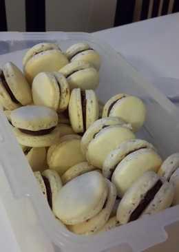 resep masakan french macarons w brigadeiro filling