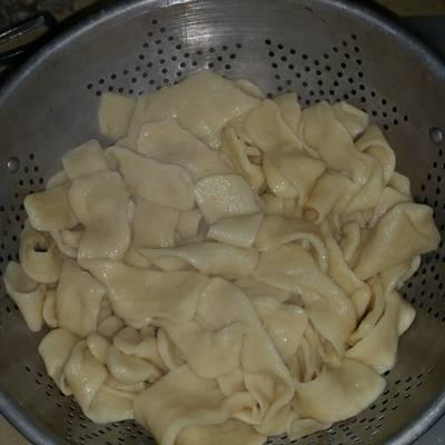 Homemade fresh egg noodles