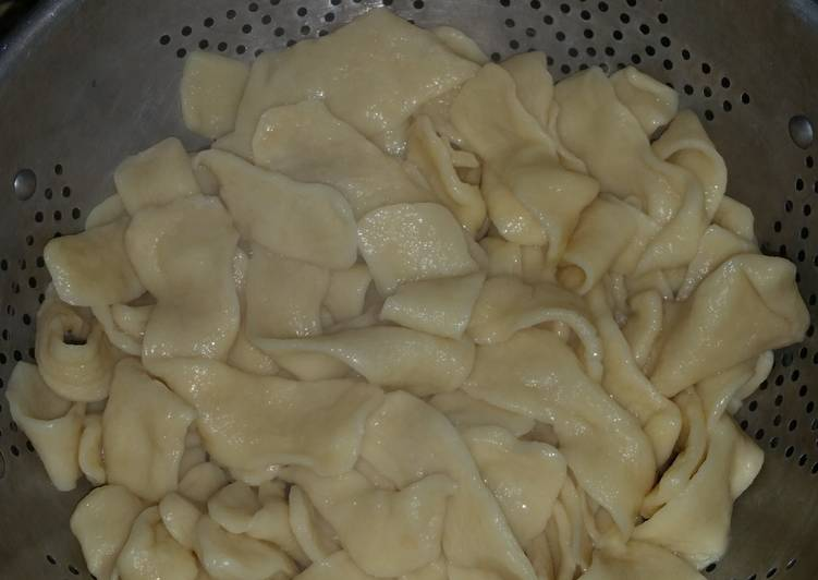 Homemade fresh egg noodles