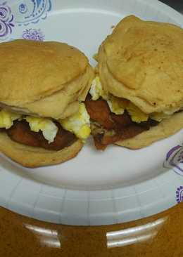 Fish and Egg Biscuits (American biscuits)