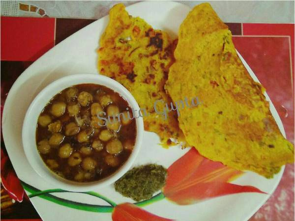 #Ramadan# Chane ki dal ka chilla With boiled Chhole