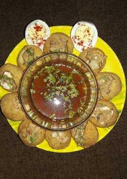 Egg Chaat Panipuri