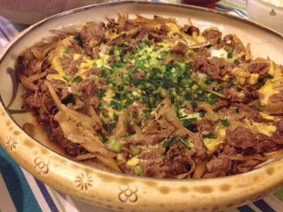 Beef and Burdock Root with Eggs