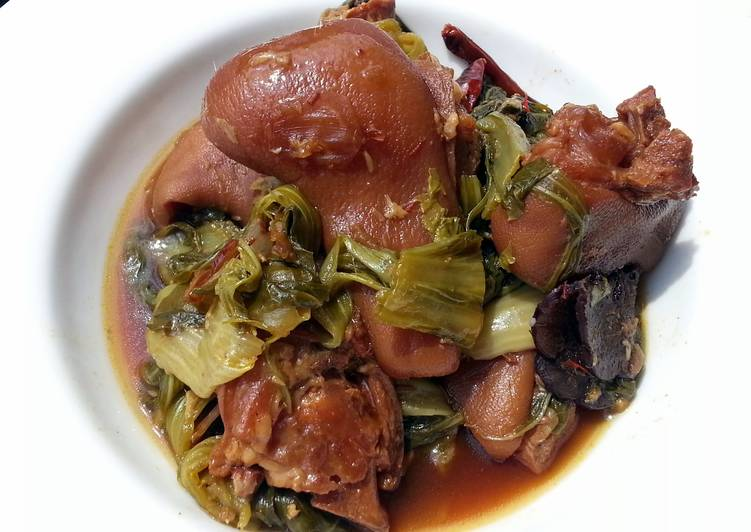 how to cook mustard greens with ham hocks