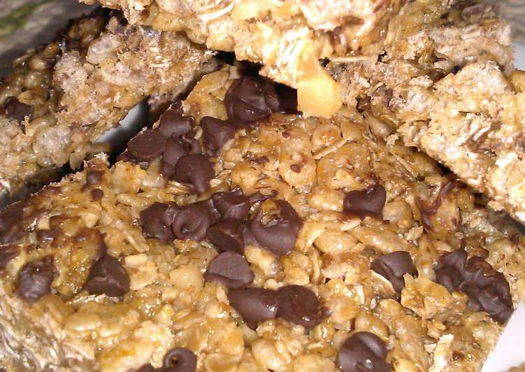 Chewy Chocolate Chip Granola Bars Recipe by Pam (Pammie ...