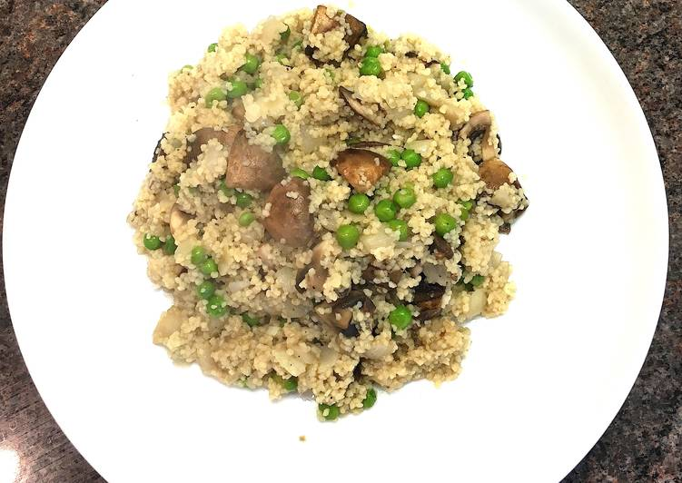Mushroom Couscous Risotto
