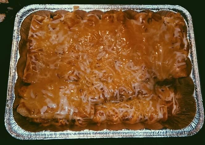 Resep Cheesy enchiladas