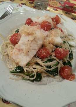 Healthy pasta with fish