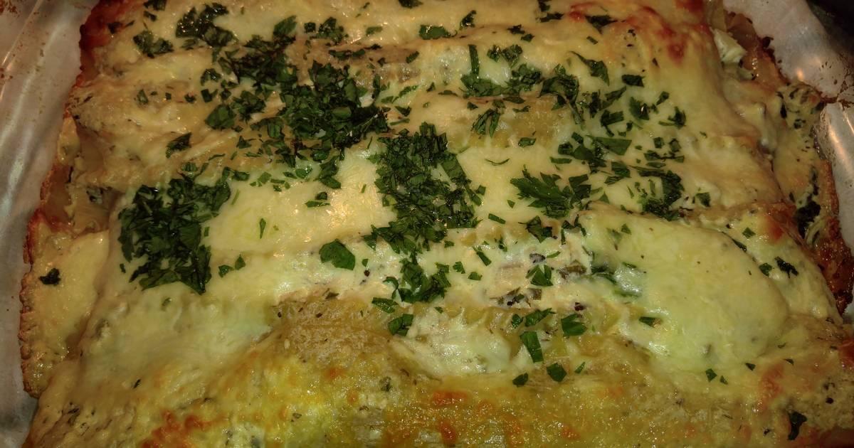 Spinach artichoke chicken lasagna recipe by shari cookpad for Spinach chicken lasagna recipe