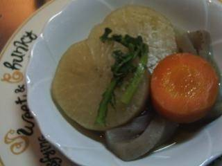 Simmered Daikon Radish and Carrot (A Taste of Home)