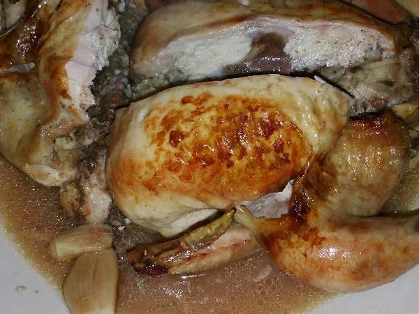 Lemon-garlic Cornish Hens