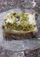 Toast & Creamy Pistachio dessert