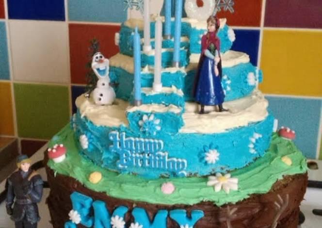 Vickys FROZEN Cake - Decoration Idea Recipe by Vicky@Jacks Free-Fro...