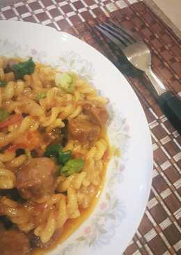 Cheesy Smoked Sausage & Pasta