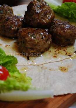 Persian petit meatballs (Kofteh rizeh Yazdi)