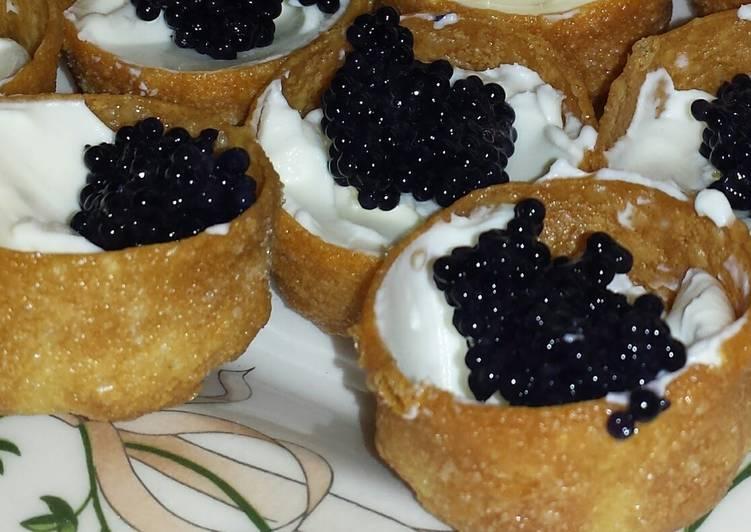 Caviar canap s recipe by adasilvamarques cookpad for Canape with caviar
