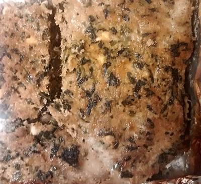 Turkey Meatloaf W/Spinach & Feta Cheese