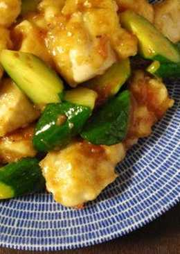 Chicken Breast, Ume and Cucumber Stir Fry
