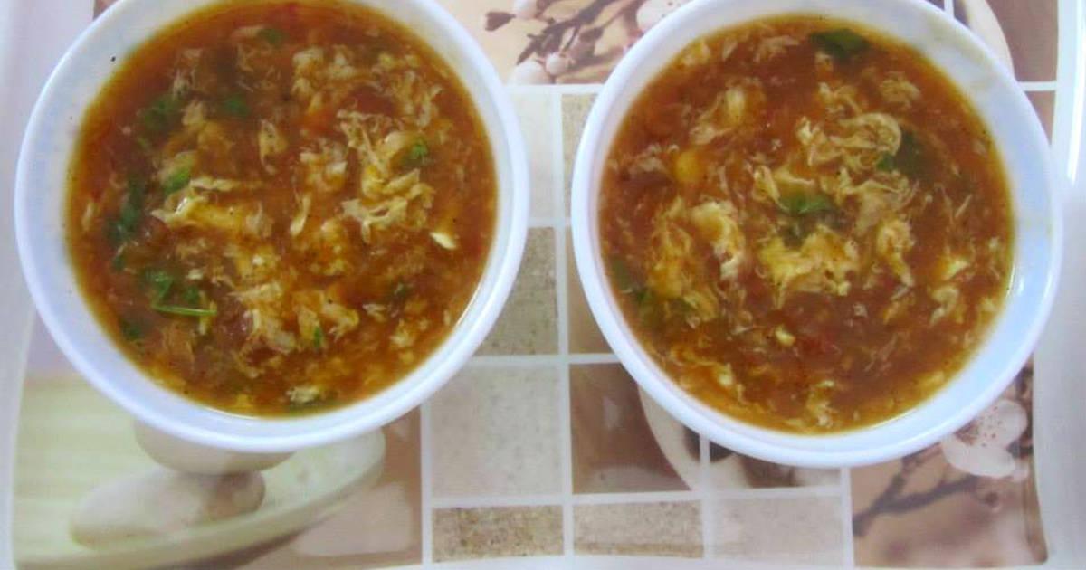 Tomato Egg Drop Soup Recipe by Anju Balan - Cookpad