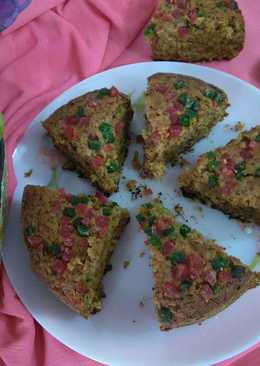Apple oats and biscuit cake