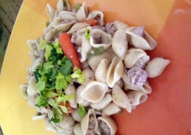 Ground pork n noodles Recipe by Hottgrandma36 - Cookpad