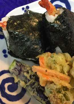 Shrimp Tempura Onigiri (Rice Ball)