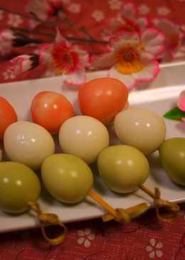 Tricolored Quail Eggs for Hanami Bentos