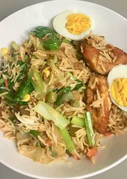 Fried rice with grated beef