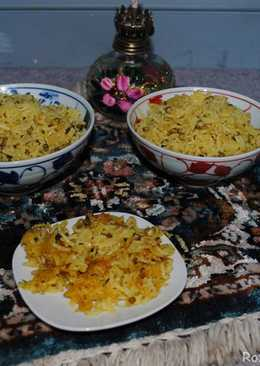 Persian mung beans rice
