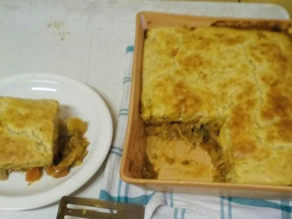 Fluffy and Light Chicken Pie