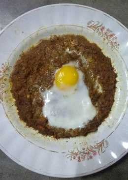 Soya keema with poached egg