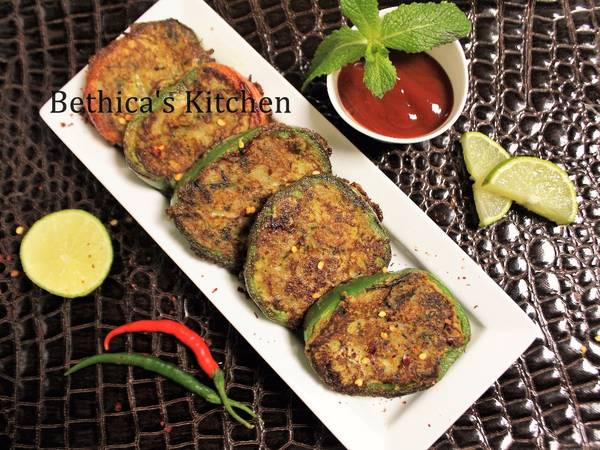 Ramadan Special - Potato stuffed bell pepper Cutlet