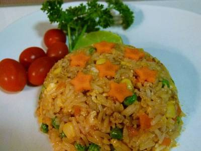 Stir fried star rice for super star people