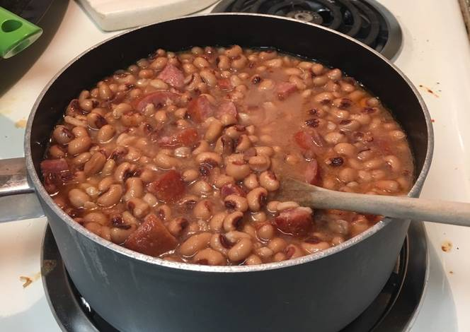 Resep Black eyed peas and sausage