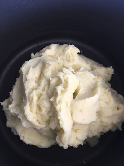 No butter mushed potatoes