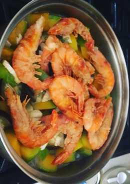 Thai Prawns w coconut milk n vegetables