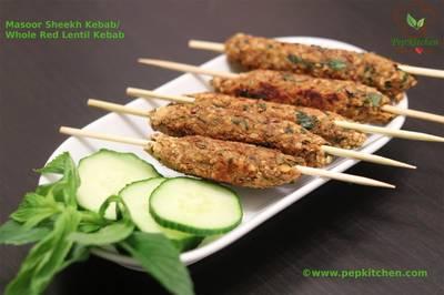 Masoor Sheekh Kebab/Whole Red Lentil Kebab