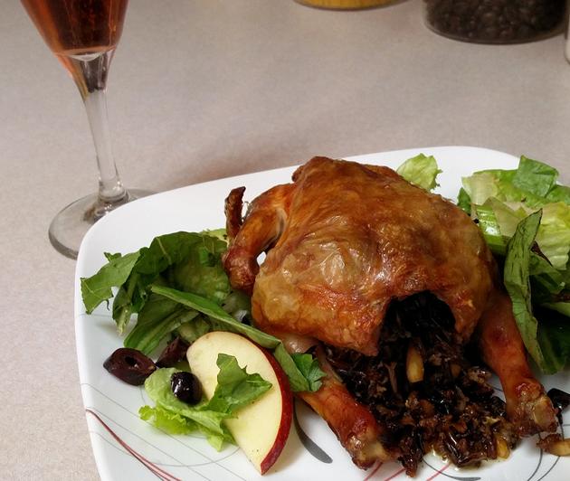 Wild Rice Stuffed Cornish Game Hen