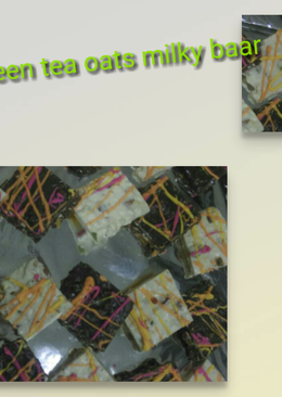 Green tea oats milky baar