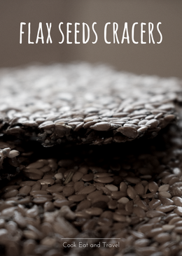Flax seeds cracers
