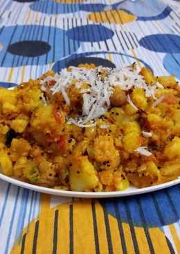 Potato and coconut dry masala
