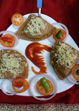 Cheese aloo paratha samosa