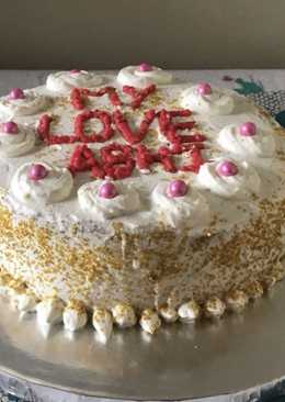 Vanilla (simple eggless cake recipe)