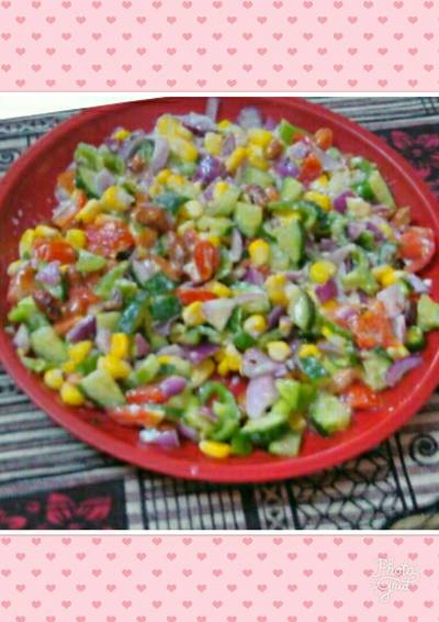 #Cooking without fire#Colourful Creamy Salad..
